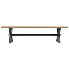 Christensen Wood and Metal Dining Bench by Union Rustic