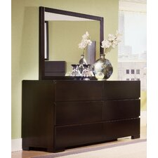 Madrid 6 Drawer Dresser with Mirror by Home Image