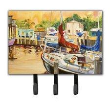 Sunset Bay Sailboat Key Holder by Caroline's Treasures
