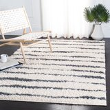 Siragan Ivory/Dark Gray Area Rug