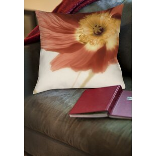 Mystic Poppy Printed Pillow by Manual Woodworkers & Weavers Great price