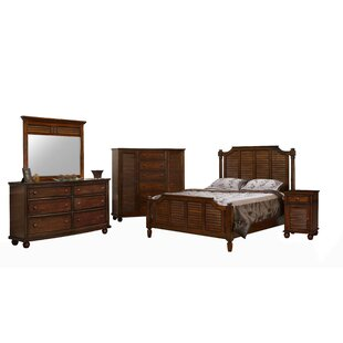 Khang Shutter Wood Panel 5 Piece Bedroom Set