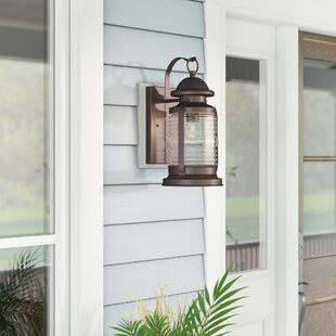 Thissell 1-Light Outdoor Wall Lantern By Beachcrest Home Outdoor Lighting