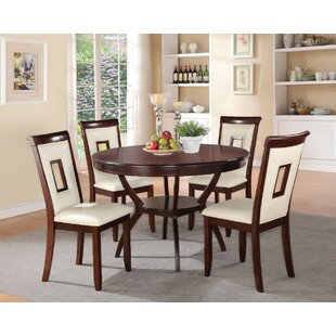 Gartman 5 Piece Counter Height Solid Wood Dining Set