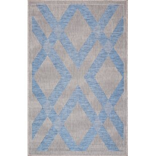Annie Light Gray/Blue Indoor/Outdoor Area Rug