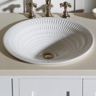 Compare prices Derring Carillon Wading Ceramic Circular Drop-In Bathroom Sink ByKohler