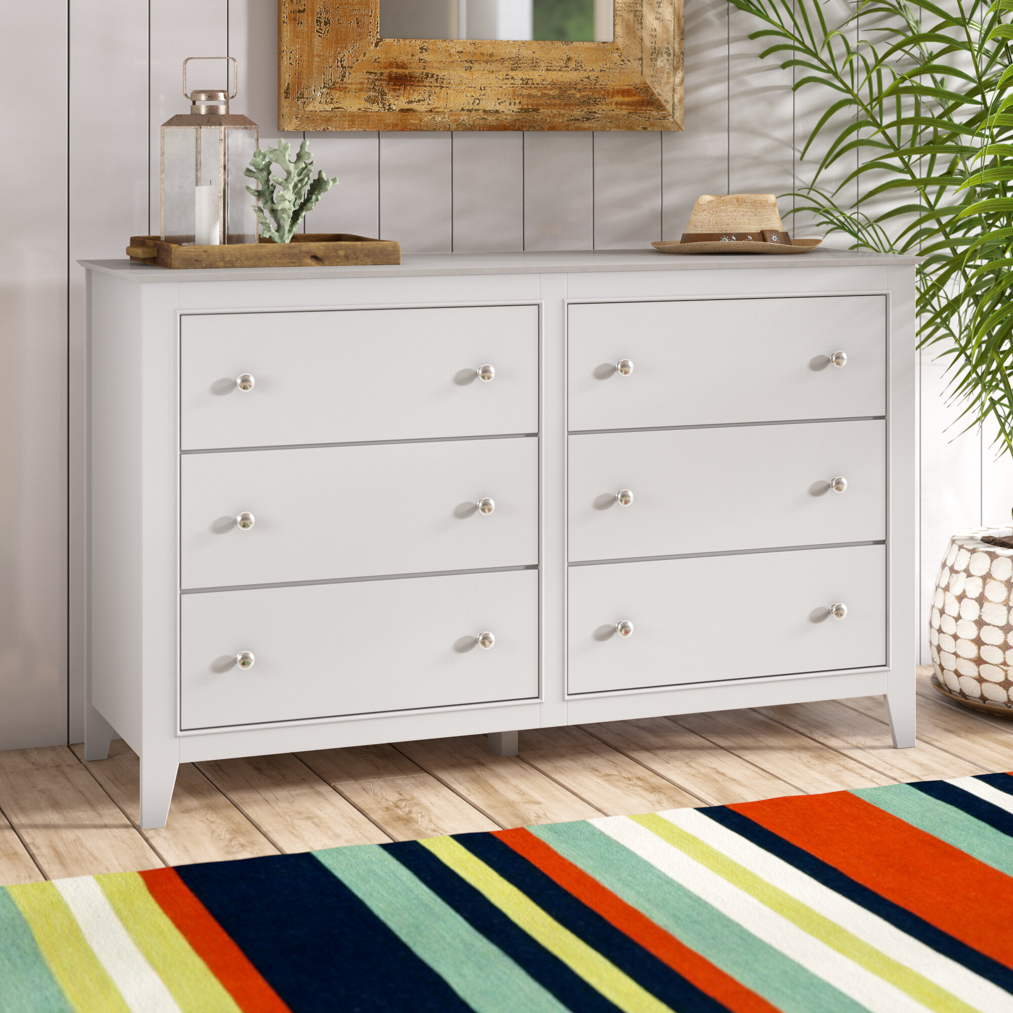 Harriet Bee Vidor 6 Drawer Double Dresser Reviews Wayfair