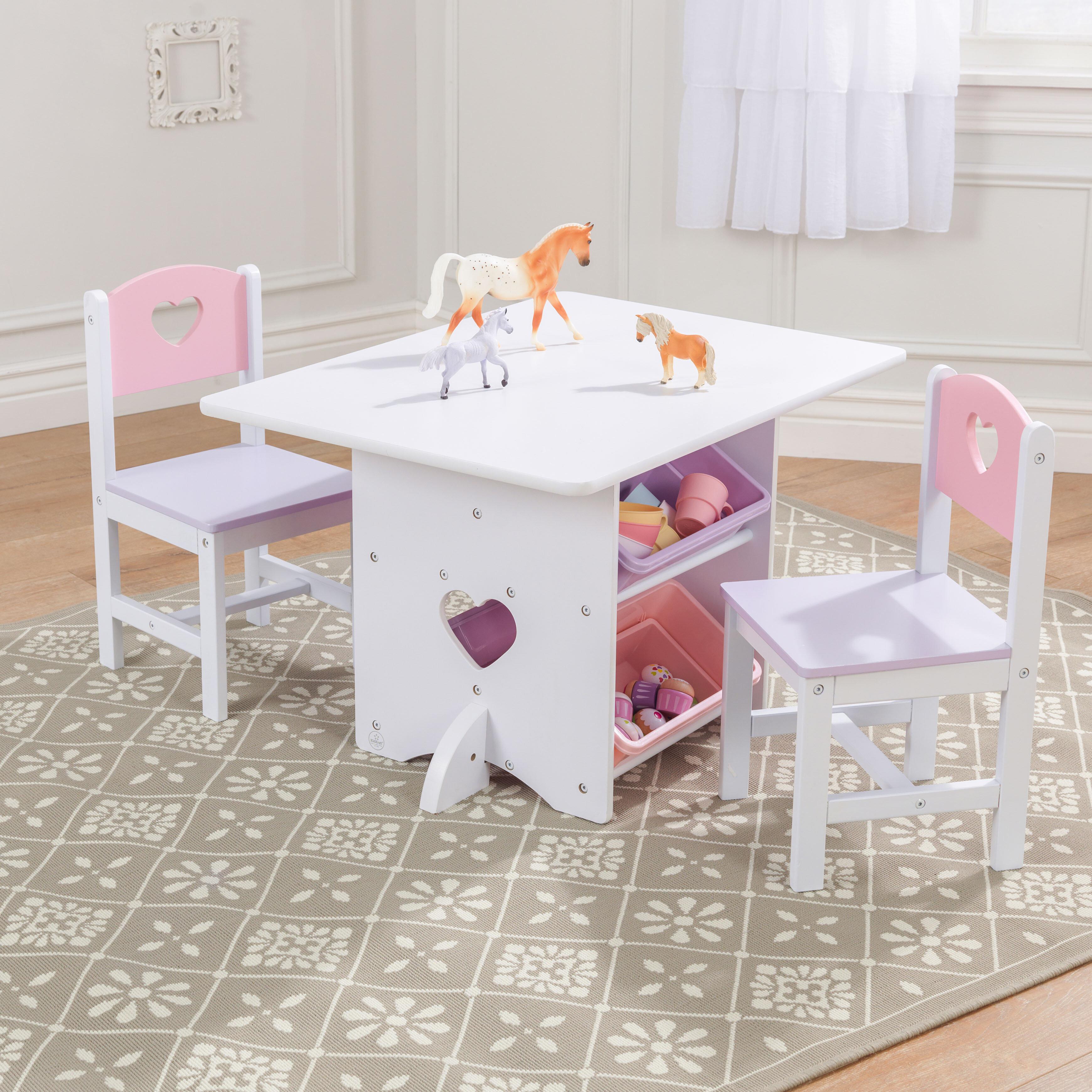 Sensational Heart Kids 7 Piece Table Chair Set Cjindustries Chair Design For Home Cjindustriesco