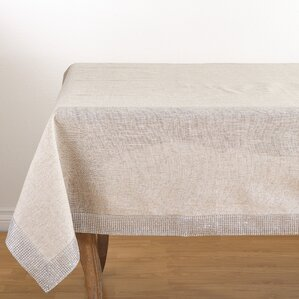 Charming Lily Studded Tablecloth