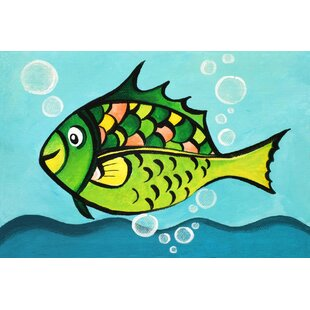 One Fish by Nicola Joyner Painting Print Canvas Art by East Urban Home
