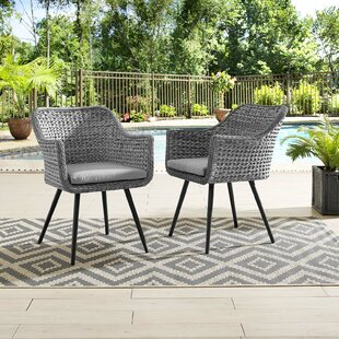 Margarito Patio Dining Chair with Cushion (Set of 2)