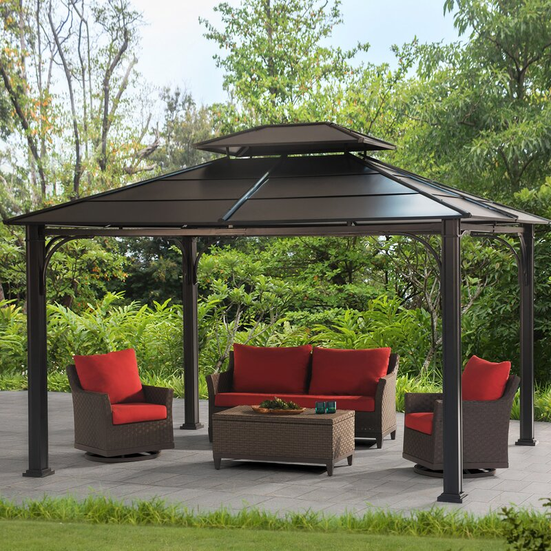 Wonderland 10 Ft  W x 12 Ft  D Steel Patio Gazebo