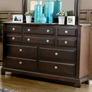 Cheryle 10 Drawer Dresser with Mirror