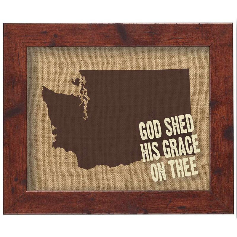 Dicksonsinc God Shed His Grace On Thee Framed Wall Art Wayfair