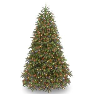 Jersey Fraser Fir 7.5' Green Fir Artificial Christmas Tree with 1000 Multi Lights and Stand