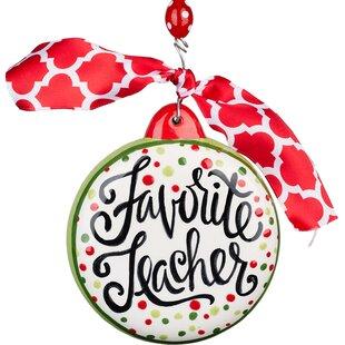 favorite teacher puff ornament