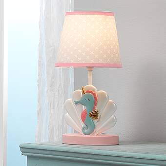 Seahorse Shell Nursery 15 Table Lamp