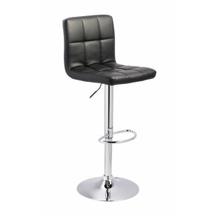 Peavy Adjustable Height Swivel Bar Stool (Set of 2) by Orren Ellis