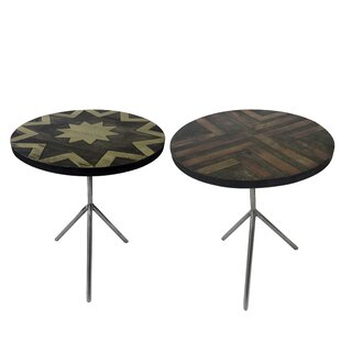Degnan Intricate Kiesha End Table Set (Set of 2)