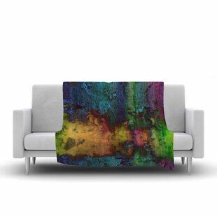 Compare prices Nina May Rainbow Saltwater Multicolor Painting Fleece Blanket By East Urban Home
