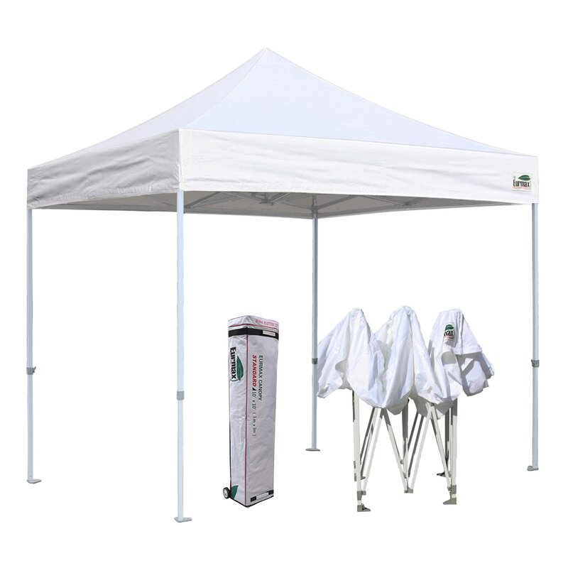 Eurmax Commercial 10 Ft W X 10 Ft D Steel Pop Up Canopy Reviews Wayfair