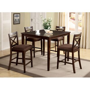 Easton 5 Piece Counter Height Dining Set Hokku Designs