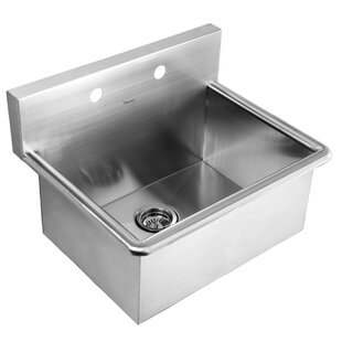Noah S 25 L X 19 5 W Stainless Steel Commercial Drop In Laundry Scrub Kitchen Sink