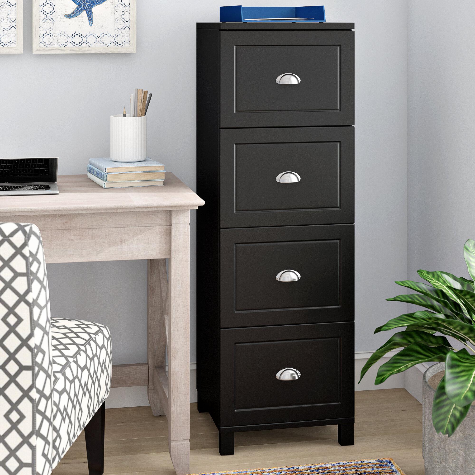 Image of: Beachcrest Home Rothrock 4 Drawer Vertical Filing Cabinet Reviews Wayfair