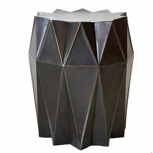 Corrugation Accent stool by Fashion N You by Horizon Interseas