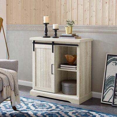 "Gracie Oaks Stotfold 32"" Wide Serverr  Color: White Oak"