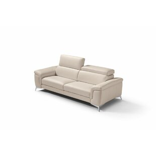 Mikayda Leather Love Sofa by Orren Ellis