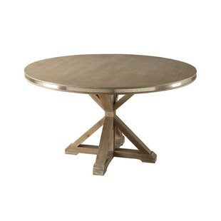 Burnsfield Round Shaped Solid Wood Dining Table