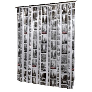 New York Vinyl Single Shower Curtain