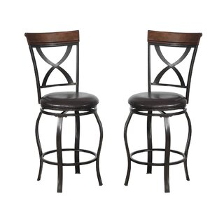 Bobkona Daisy 24 Swivel Bar Stool (Set Of 2) by Poundex Read Reviews