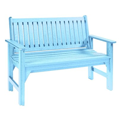 Alanna Plastic Garden Bench Color: Aqua by Beachcrest Home