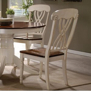 Chamberlain Solid Wood Dining Chair (Set of 2) by August Grove