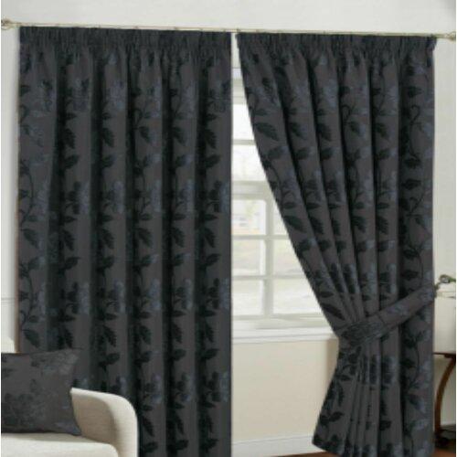 Winkel Pencil Pleat Room Darkening Thermal Curtains Rosalind