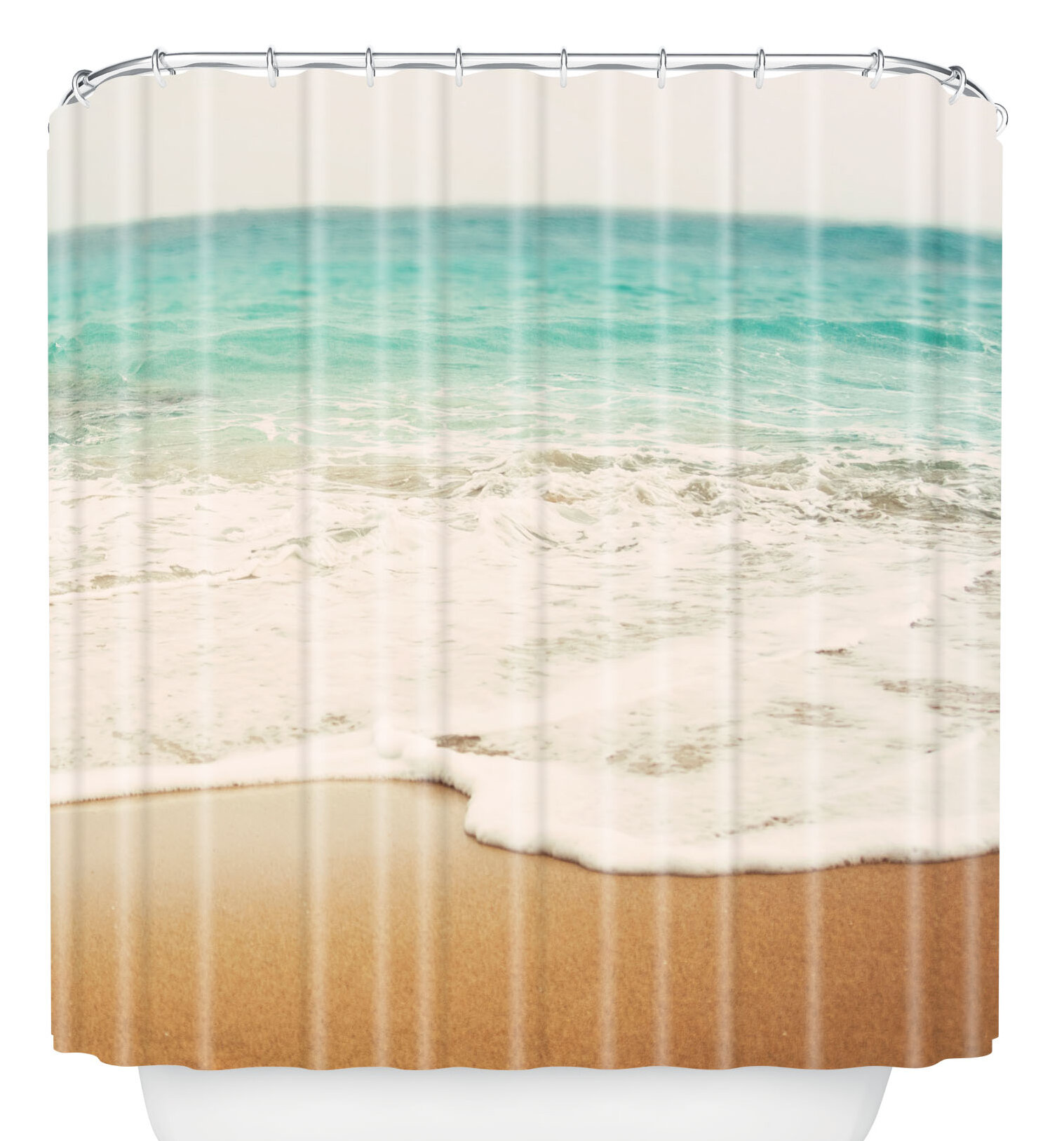 East Urban Home Bree Madden Ombre Beach Shower Curtain Reviews