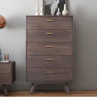 Low priced Dalessio Wooden 5 Drawer Chest ByBrayden Studio