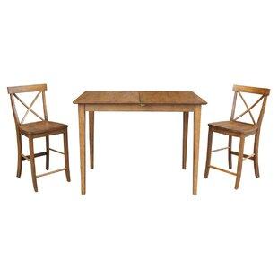 Lalikova 3 Piece Pub Table Set August Grove