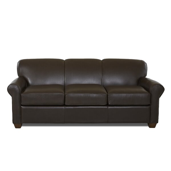 Wayfair Custom Upholstery Jennifer Leather Sofa Bed Reviews Wayfair