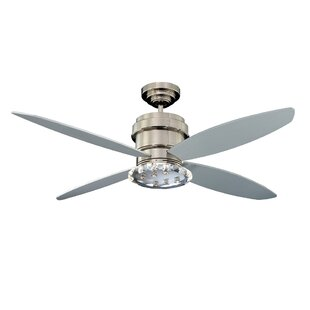 Best Reviews 52 Optica 4-Blade Ceiling Fan with Wall Remote By Kendal Lighting