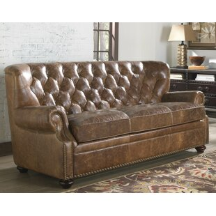 Louis Leather Sofa by Lazzaro Leather