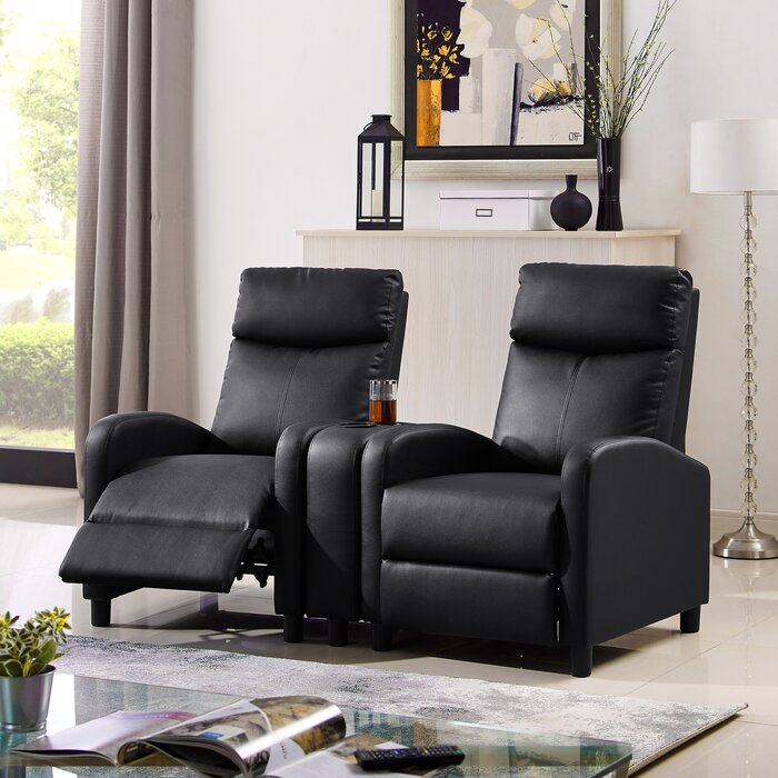 Pleasing Manual Recliner Home Theater Loveseat Spiritservingveterans Wood Chair Design Ideas Spiritservingveteransorg
