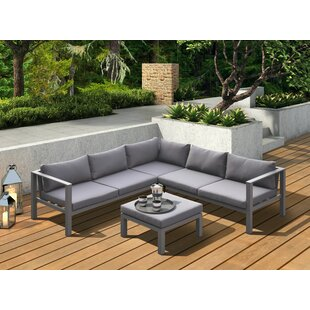 Hornback Outdoor 4 Piece Sectional Seating Group