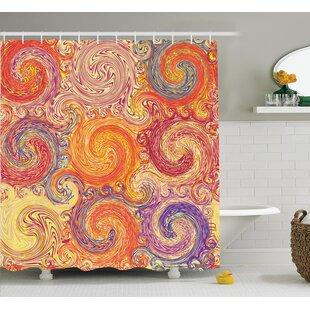 Compare Swirl Decor Shower Curtain ByEast Urban Home
