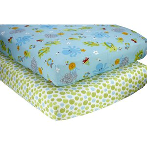 Evanston Fitted Crib Sheets (Set of 2)