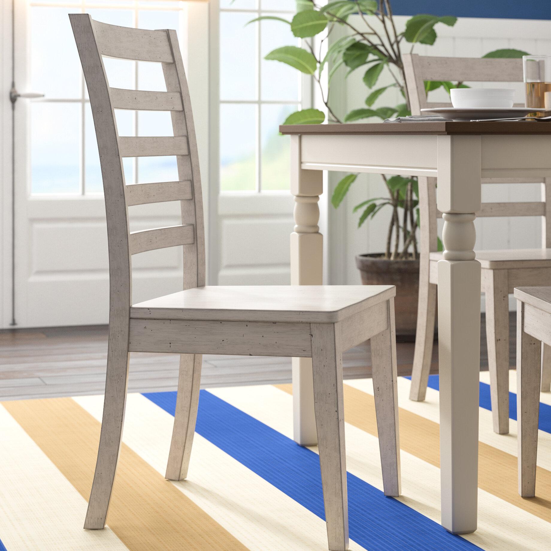 Rosecliff Heights Rutledge Ladderback Solid Wood Dining Chair U0026 Reviews |  Wayfair