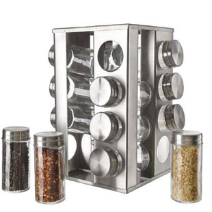 Rotating 16 Jar Spice Jar & Rack Set by 5th Ave Store Wonderful