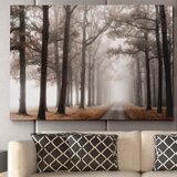 'Misty Road' - Wrapped Canvas Painting Print